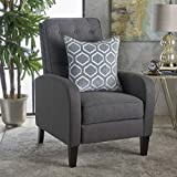Nissa Tufted Dark Grey Fabric Recliner