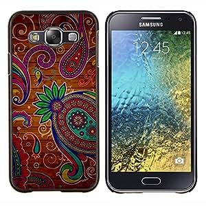 Stuss Case / Funda Carcasa protectora - Coloridos tatuaje de Henna Colores Flores - Samsung Galaxy E5 E500