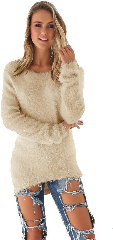Women/'s Long Sleeve Loose Winter Warm Sweater Casual Tops Jumper Pullover Dress