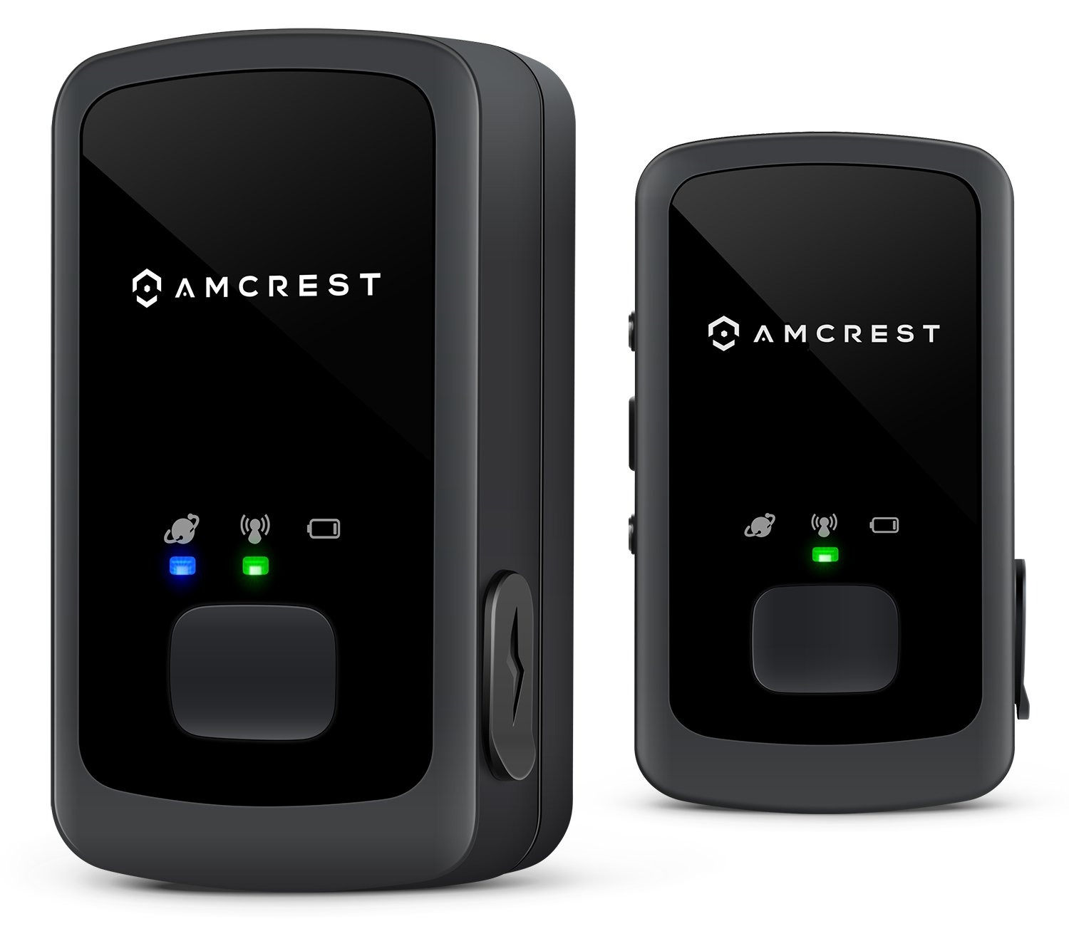 2-Pack Amcrest AM-GL300 V2 (Upgraded GSM) Portable Mini Real-Time GPS Tracker - Unlimited Text Message / Email Alerts, Geo-Fencing, 7-10 Day Battery, No Contracts by Amcrest