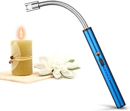 johgee Encendedor de Velas,Encendedor Eléctrico,Encendedor de Arco Eléctrico con Pantalla LED de Batería,USB Recargable para ...