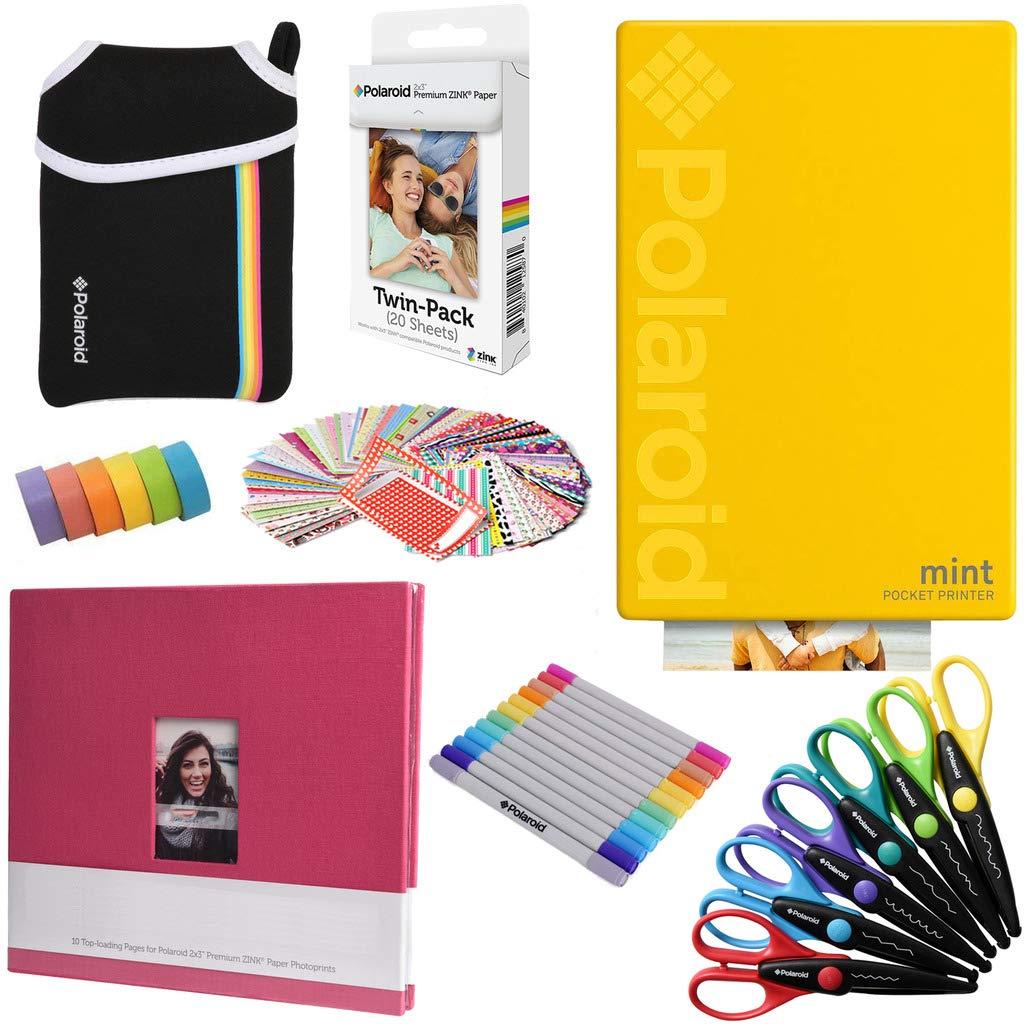 Polaroid Mint: Impresora instantánea (Amarillo) PAQ Arte + ...