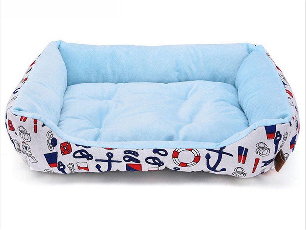 bluee Small bluee Small Pet Supplies Kennels Soft Comfortable Pets Cat Nest,bluee,S