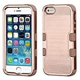 MyBat Cell Phone Case for iPhone 5S; iPhone 5; iPhone SE - Rose Gold Brushed/Rose Gold Solid