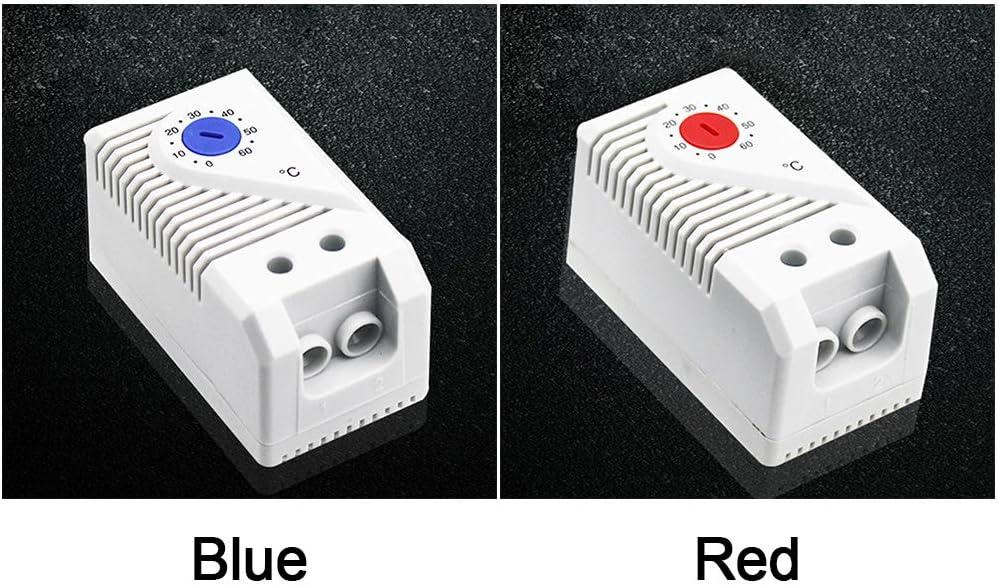 R/égulateur de temp/érature Home M/écanique Thermostat Thermostat Mini Placard Chauffage Interrupteur Filtre Souffleur Facile /à Utiliser Compact Signal Free Size Bleu Rouge