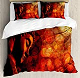 Zen 3D Duvet Cover Sets Bedspread for Adult Kids, Fitted Sheet, Pillowcase Twin Size, 4pc Luxury Bedding Set Eastern Religious Figure Abstract Backdrop Asian Ethnicity Meditation Peace