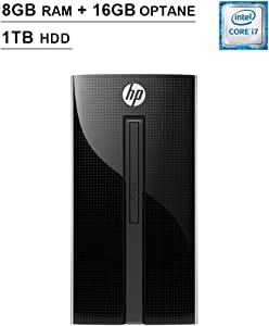 HP Pavilion 2020 460 Premium Desktop (Intel Dual-Core i7-7700T 2.9 GHz up to 3.8 GHz, 8GB RAM+16GB Optane RAM, 1TB HDD, DVD, WiFi, Bluetooth, HDMI, Keyboard, Mouse, Win10 Home)