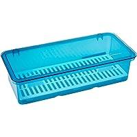 Plastic Cutlery Box (Blue) 28x13Cm