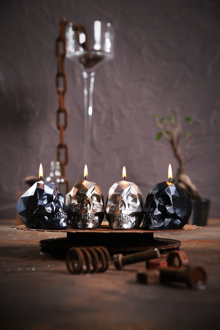 Candellana Candles 5902841369252 Skull Small 4 pcs-Assorted I by Candellana Candles