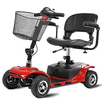 ACEDA Scooter Mobility|4 Ruedas | Vehículo De Movilidad | Moto Minusválidos | Moto para Personas Mayores | Mobility Scooter,Red: Amazon.es: Deportes y aire ...