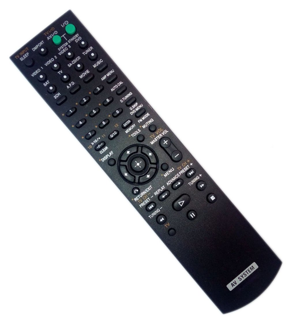 Replaced Remote Control for Sony HT-SF2000 RM-AAU013 STRDG510 HTDDW700 Home Theater Audio/Video Receiver AV System
