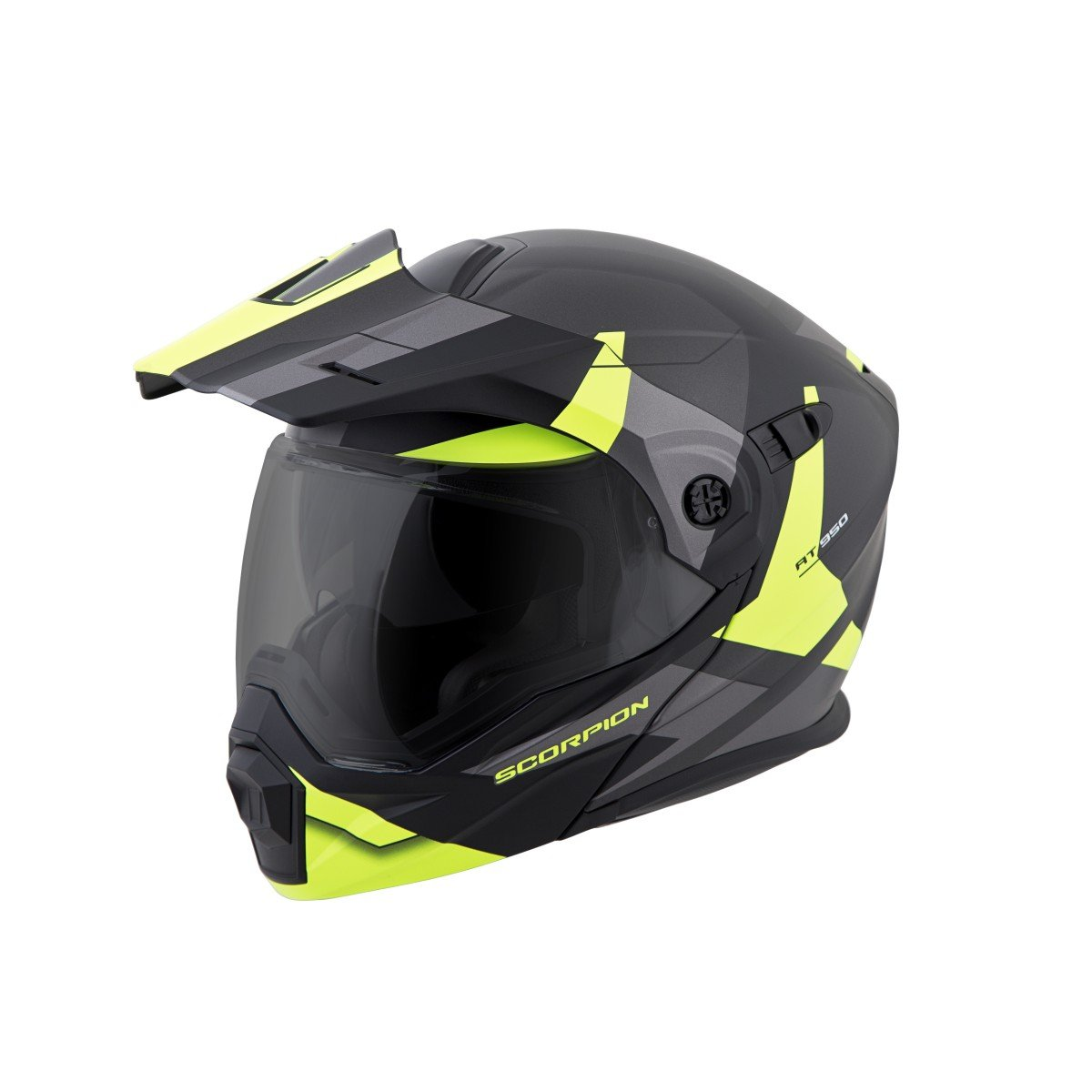 ScorpionEXO Unisex-Adult Modular/Flip Up Adventure Touring Motorcycle Helmet (Hi-Viz, Large) (EXO-AT950 Neocon)