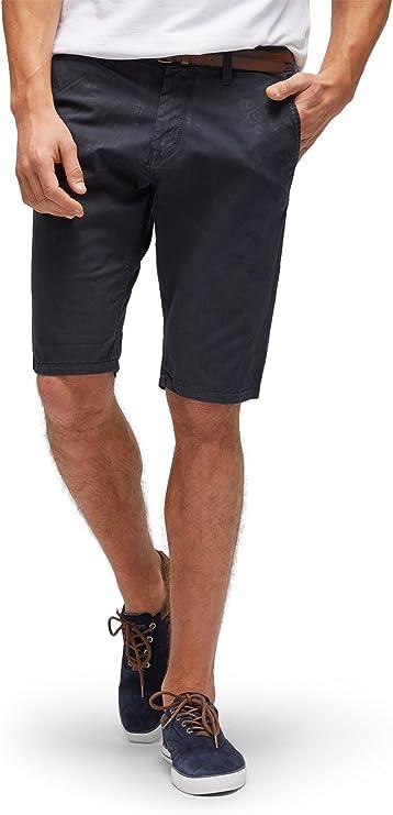TALLA 31W. Tom Tailor Solid Chino Short Jim Pantalones Cortos para Hombre
