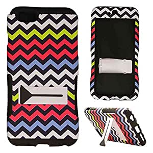 CellTx Hopper Case For Apple (iPhone 6 Plus) Double Layer Texture Cover (Chevron, Waves, Yellow, Pink, Blue, White) AT&T, T-Mobile, Sprint, Verizon, Boost Mobile, U.S Cellular, Cricket by Maris's Diary
