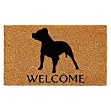 Home & More 103012436 Pit Bull Doormat 2' x 3', Natural/Black