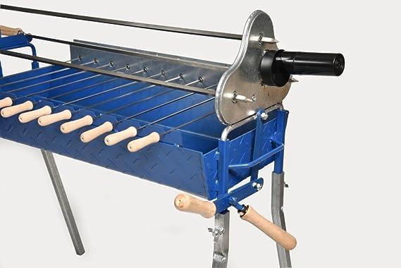 Food From Cyprus Parrilla para Barbacoa de carbón Greco-chipriota Rotisserie Foukou con Mecanismo de Palanca de elevación: Amazon.es: Jardín