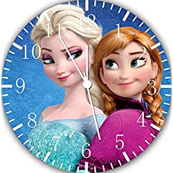 Borderless Frozen Elsa Anna Frameless Wall Clock W475 Nice for Decor Or Gifts