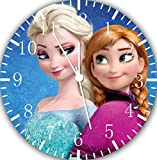 "Best IkEA clock - Disney Frozen Elsa Anna Wall Clock 10"" Will Review"