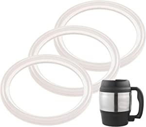 3-Pack of Bubba (R) 52 oz Mug -Compatible Gaskets / Seals / Rings - BPA-/Phthalate-/Latex-Free - Replacements for 52 Ounce Classic Insulated Desk Coffee Mug - By IMPRESA