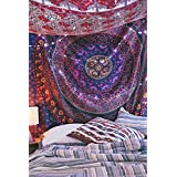 Indian Tapestries,bed sheets ,bed spread,hippy bed sheets,wall hangings,ethnic decor,home decor bed sheets,throw,picknic blankets,dorm tapestries By Montreal Tappesier