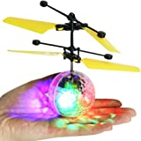 ELECSUM Rc Flying Ball, Rc Toy, Rc Infrared Induction Helicopter Ball Built-In Shinning Led Lighting For Kids, Teenagers Colorful Flyings For Kid'S Toy -A