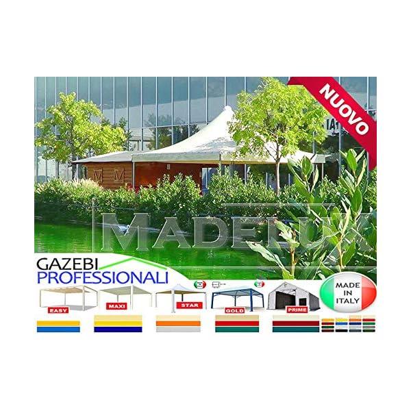 MadeluX Gazebo 6x6 Professionale Certificato e Personalizzabile Stand Eventi Pagoda ignifugo Padiglione pergola tettoia… 3 spesavip