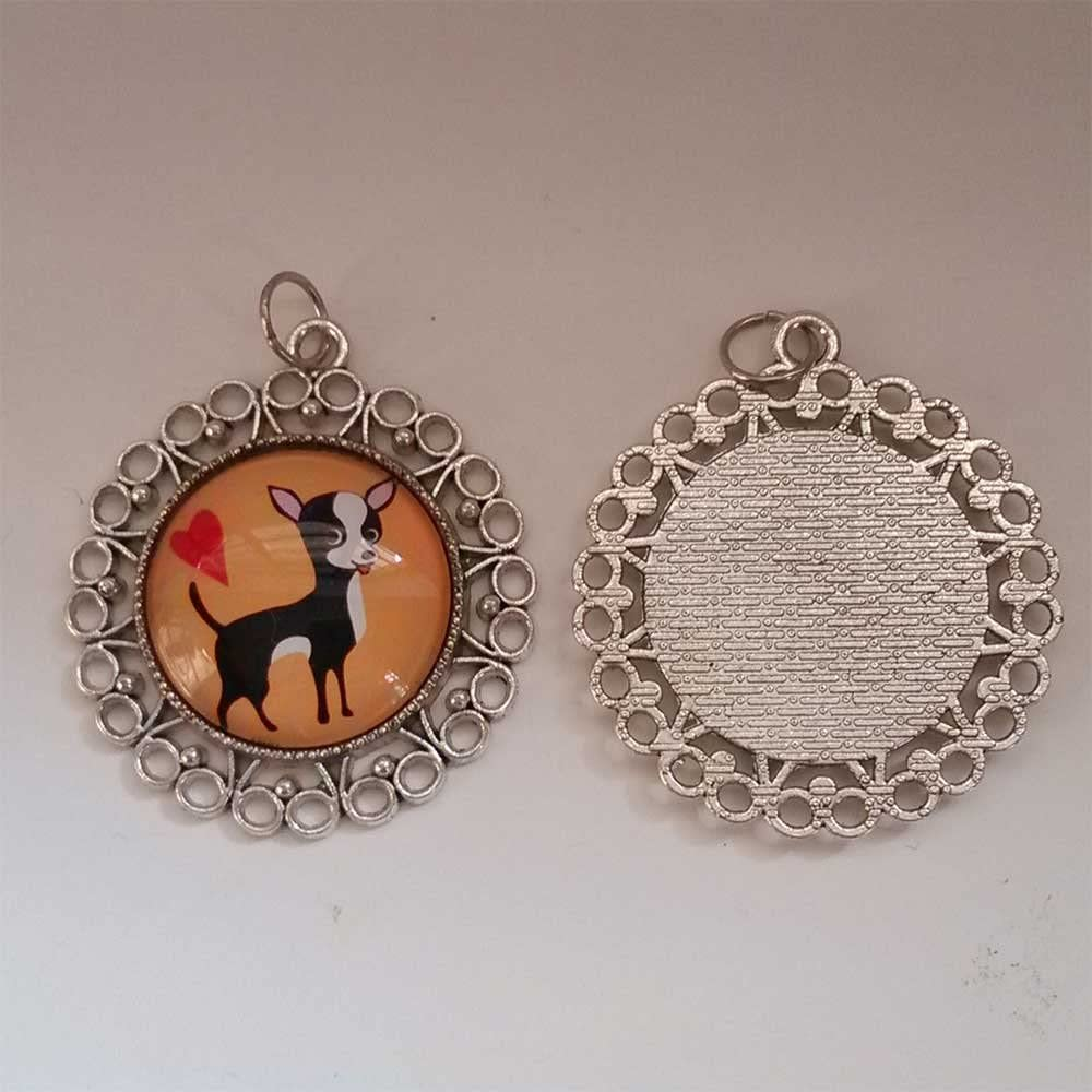 GiftJewelryShop Ancient Style Silver Plate Olympics Table Tennis Paddle and Ball Floral Hoop Pendant