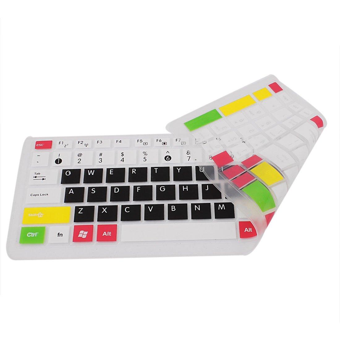Amazon.com: eDealMax Silicona teclado del ordenador portátil de la piel cubierta de la película Blanco Negro Para Asus N50 / N51: Electronics