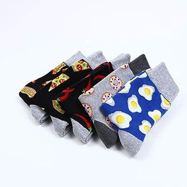 DOTBUY Medias Novedad Calcetines, comida Hombres Mujer Unisexo Elástico Deportes Socks (chile): Amazon.es: Ropa y accesorios