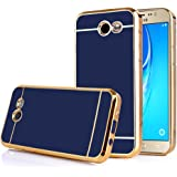 TabPow Galaxy J7 Prime 2017 Case, Electroplate Slim Glossy Finish, Drop Protection, Shiny Luxury Case For Samsung Galaxy J7 Perx / Galaxy J7 Sky Pro / Galaxy J7 V / J7 2017 -Royal Blue Gold