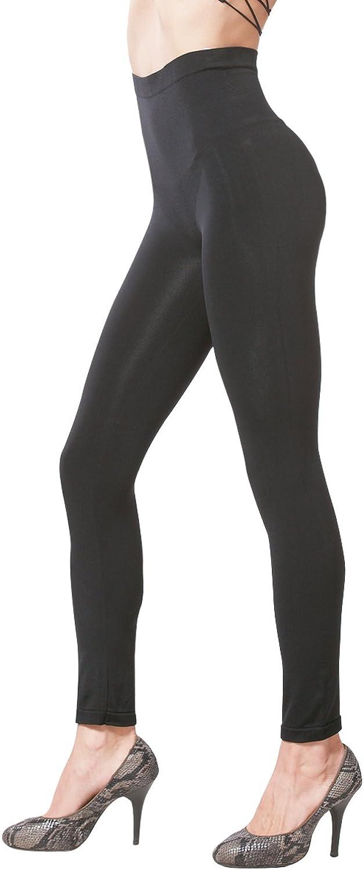 KHAYA Women's Seamless High Waist Slim Compression Full Length Legging