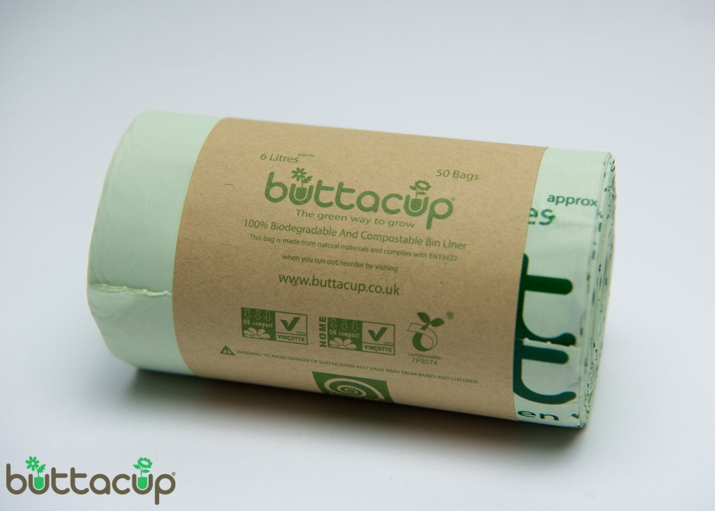 by buttacup 50 bags x 6 litre bio bag biodegradable. Black Bedroom Furniture Sets. Home Design Ideas