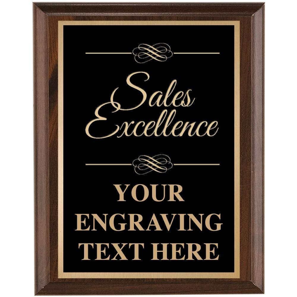 Sales Plaques - 7x9 Sales Excellence Plaque with Custom Engraving Prime by Crown Awards