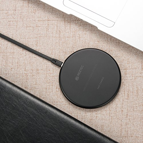 iREIZTEC Wireless Charger Pad, 7.5W Fast Wireless Charger for iPhone X 8 8 plus, 10W Fast Wireless Charger for Galaxy S9 S8 S7 S6 Edge Plus Note 8, and other Qi-enabled devices, no AC Adapter (black) by iREIZTEC (Image #8)