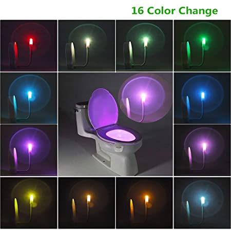 UV Sterilizer Toilet Night Light 16 Colors Motion Activated LED Home Upgraded