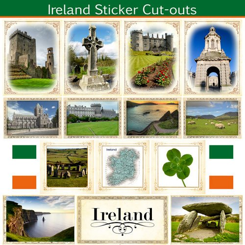 Ireland Sightseeing Picture Sticker Cut Outs (60124)