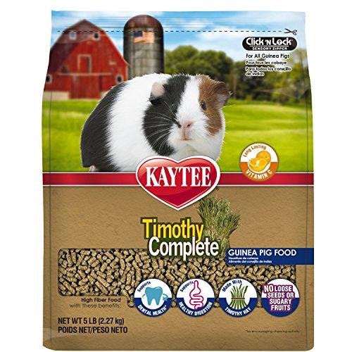 Kaytee Timothy Hay Complete Guinea Pig Food, 5-lb bag