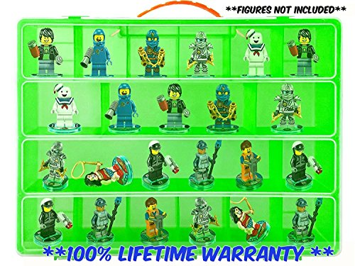 Video Game Mini Figure Organizer- Fits 30 Lego Dimensions TM Figures- Large Case and Carrying Handle