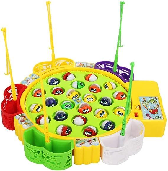 Sipobuy Go Fishing Game Fish Toy Juego de Mesa Musical con 5 cañas ...