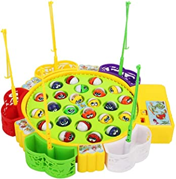 Sipobuy Go Fishing Game Fish Toy Juego de Mesa Musical con 5 cañas ...