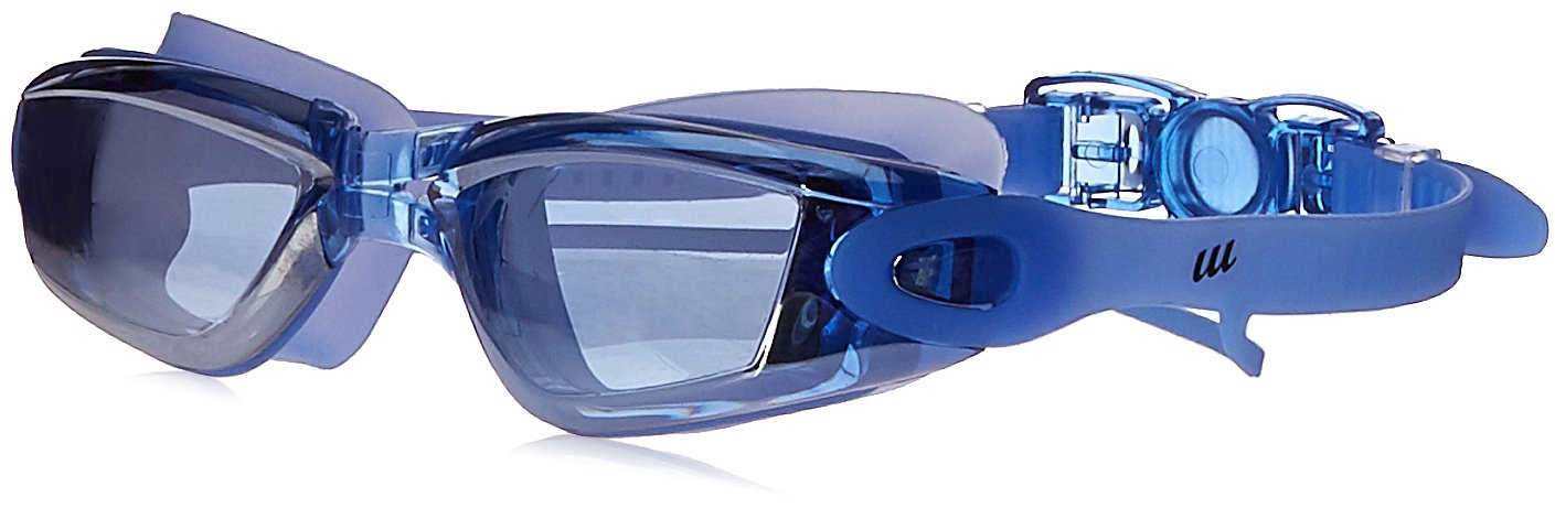 7dc22515e5 Amazon.com   UU Clear Vision Myopic Swimming Goggles Waterproof Antifog  with Ear Plugs for Men Women   Sports   Outdoors
