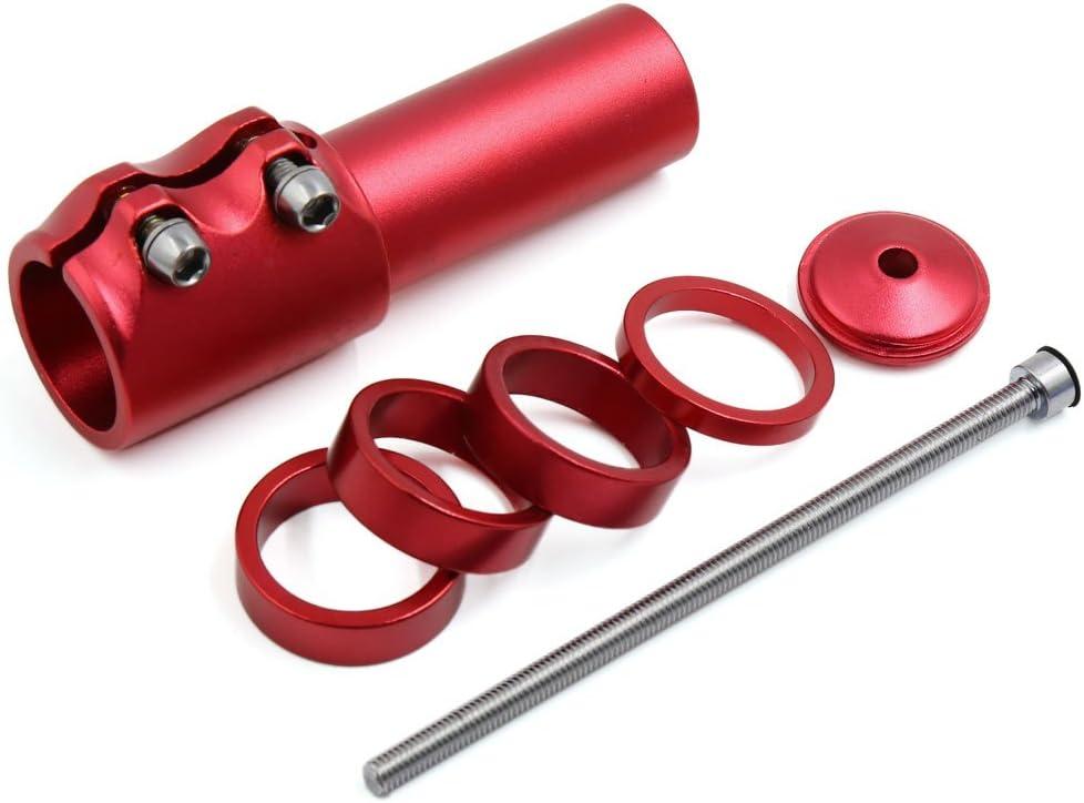 sourcing map Adaptador Prolongador Rojo MTB Bicicleta Altura de ...