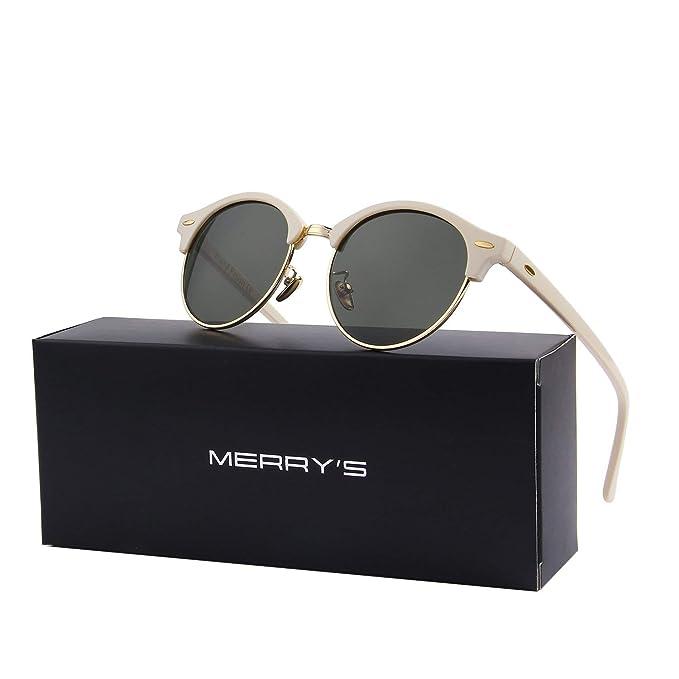 Amazon.com: MERRYS S8054 gafas de sol polarizadas retro ...
