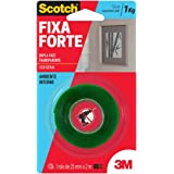 Fita Dupla Face 3M Scotch Fixa Forte Transparente - 24 mm x 2 m