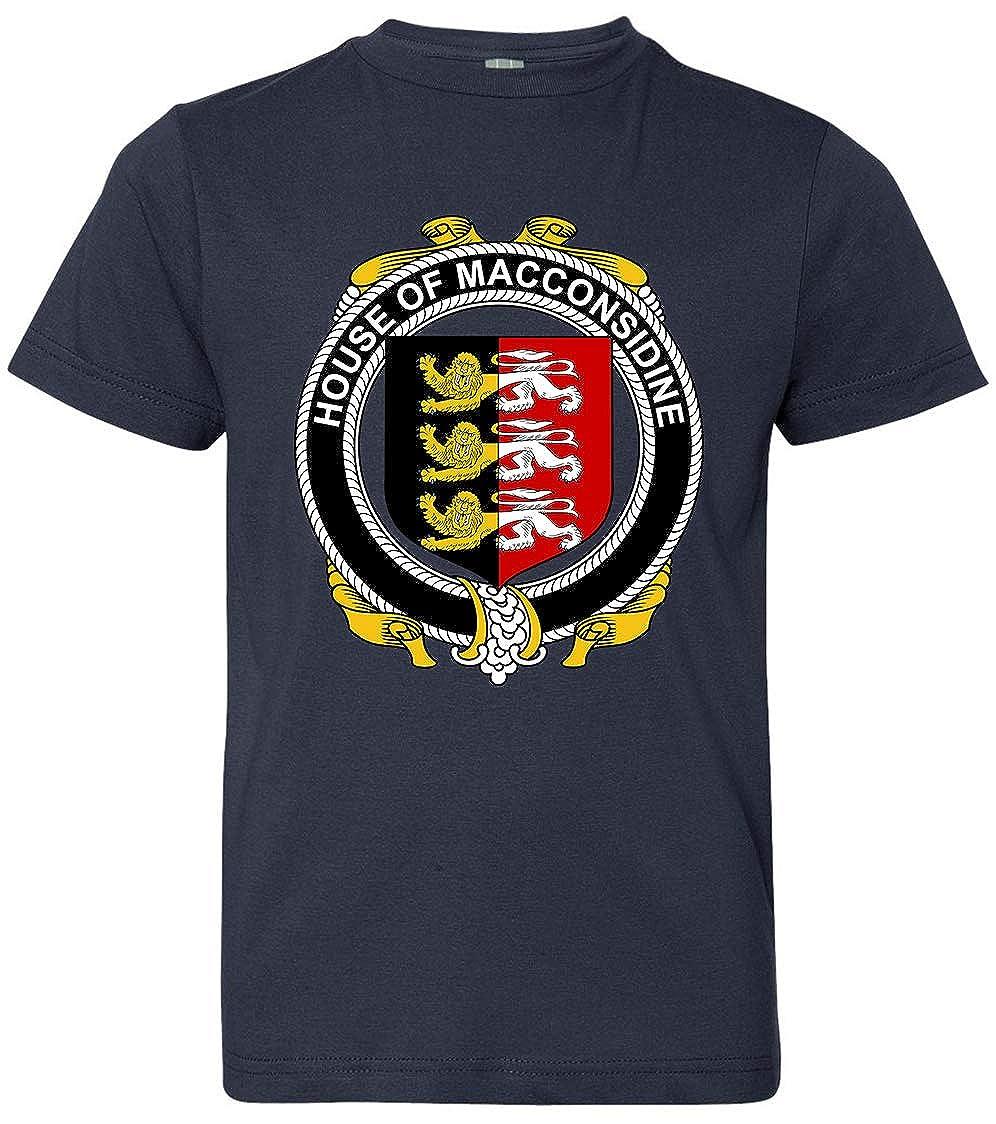 Navy Tenacitee Boys Youth Irish House Heraldry Macconsidine T-Shirt Medium