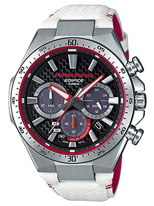 Amazon.com: Casio Edifice Limited Edition Honda Racing White and Red Watch EQS-800HR-1A: Watches