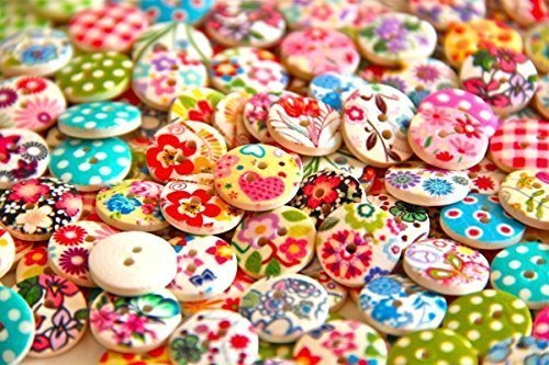 Pack of 50g Over 100 PCS - Mixed Colours of Various Shaped Mixed Buttons for Sewing and -