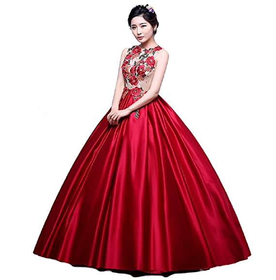 Red Satin Gown
