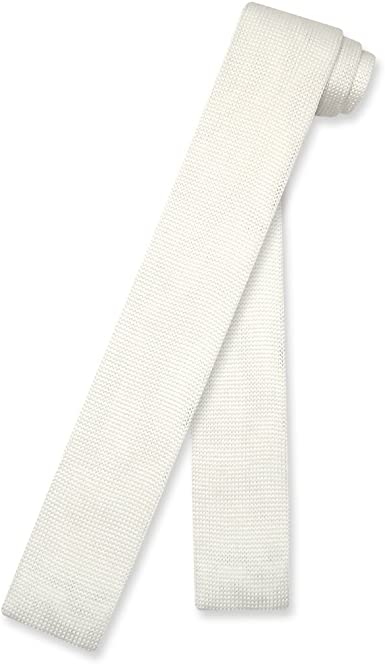 Biagio BOYS NeckTie Solid Off-White Ivory Color Youth Neck Tie