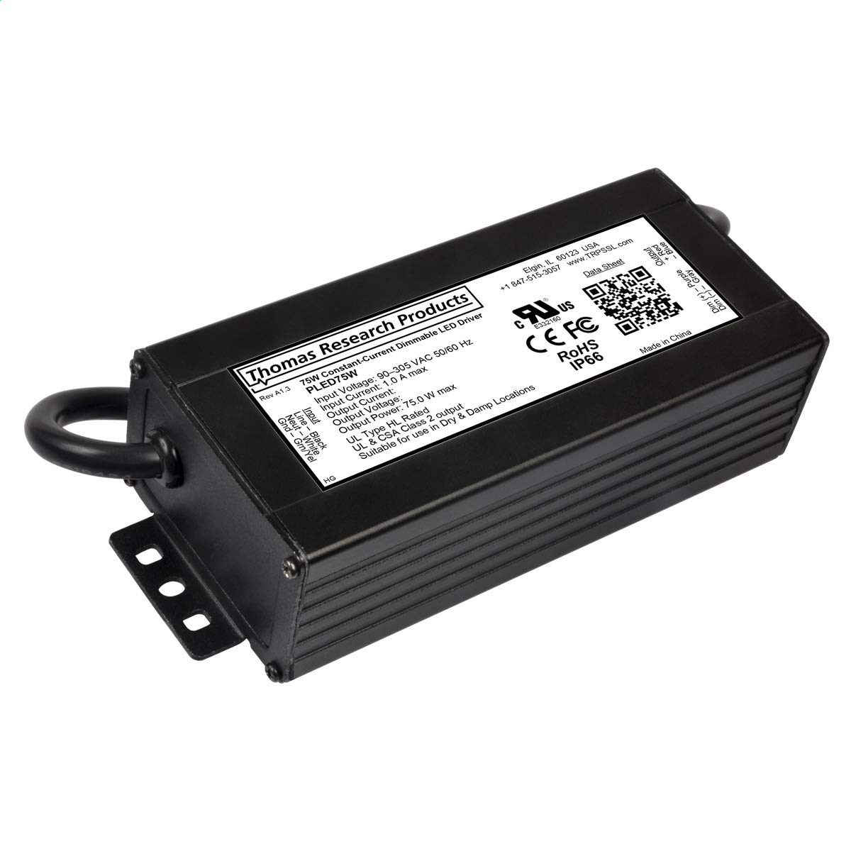Hubbell PLED75W-042-C1790-D Constant Current Driver, dimmable Thomas Research Products